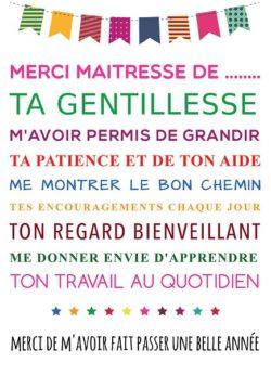 Affiches cadeaux maitresses supports educatifs - Remerciement maitresse d ecole cp ...